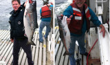 Erik Larson and Patrick Mitts catch salmon