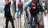 Erik Larson and Patrick Mitts catch salmon