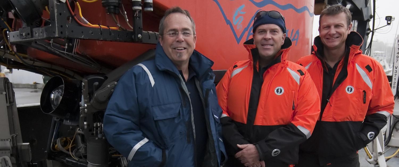 ROV Ventana pilots l-r: Craig Dawe Technical Services/MARS Manager, D.J. Osborne ROV pilot/technician, Mike Burczynski ROV pilot/technician