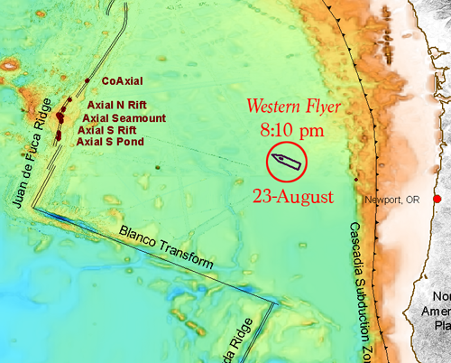 Map - halfway to Axial Volcano