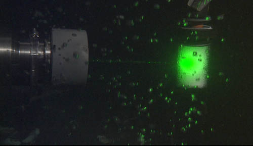 natural gases streaming up into the deep sea