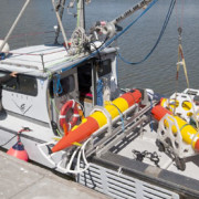 Long-range autonomous underwater vehicles travel several thousands of kilometers in the ocean, collecting data as they go.