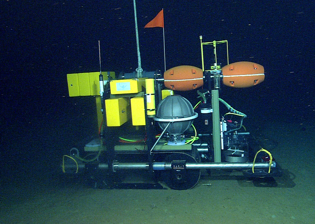 Benthic rover during test dive
