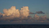 Clouds on the horizon glow during sunset. The Lone Ranger will reach the location of the deep-sea observatory in the early hours tomorrow.