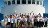 The research team and ship's crew gather for a group picture.