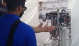 An environmental sample processor (ESP) on display at the Monterey Bay Sanctuary Celebration.