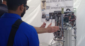 An environmental sample processor (ESP) on display at the Monterey Bay Sanctuary Celebration.
