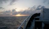 Lone Ranger sails west toward Freeport, Grand Bahama.
