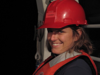 Meghan Powers runs the trawl operations every evening.