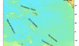 Linear seamount chains in the Central Pacific Map © MBARI 2004, after Davis et al, 2002.