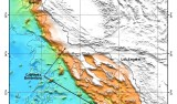 Map of the California Borderland, which is a broad area of basins and ranges with some islands off Southern California. Map © MBARI 2006