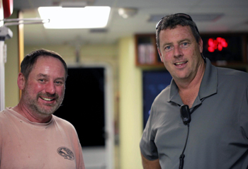 Relief ROV pilot Bob Waters (left) and First Mate George Gunther.