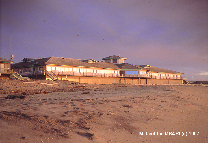 View of MBARI facilities from the beach