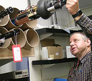MBARI Research Specialist Hans Jannasch checks on DuraFET pH sensors that will deployed to monitor the pH of the Southern Ocean. Image: Kim Fulton-Bennett © 2015 MBARI