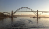 The Yaquina Bay Bridge south of Newport, Oregon.