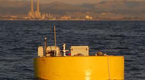 Powerbuoy at sunset in Monterey Bay