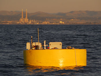 Powerbuoy at sunset in Monterey Bay