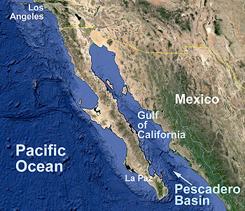 Pescadero Basin located in Gulf of California