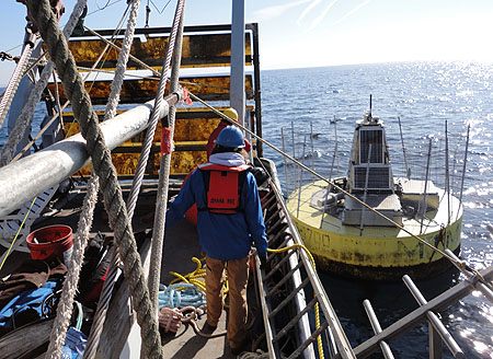 wave-power buoy recovery