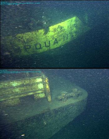 images of wrecked barge Umpqua II