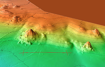 3D map of seafloor at Pescadero Basin