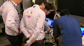 Members of Team HpHS (Japan) for XPRIZE competition