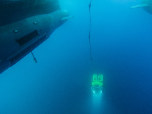 ROV Doc Ricketts launched from Research Vessel Western Flyer