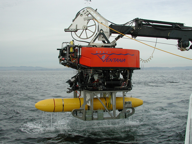 ROV Ventana launched with mapping AUV