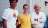 Steve Haddock, former MBARI postdoctoral fellow Christy Herren, and their graduate advisor and bioluminescence pioneer Jim Case.