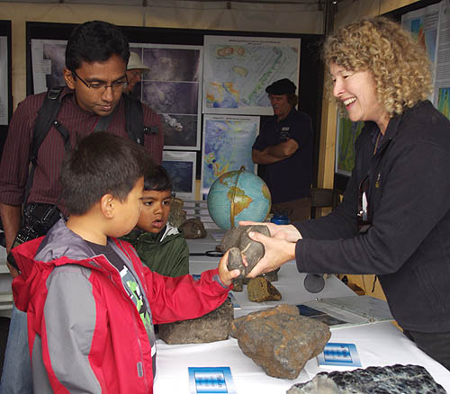 Rock samples from underwater volcanoes