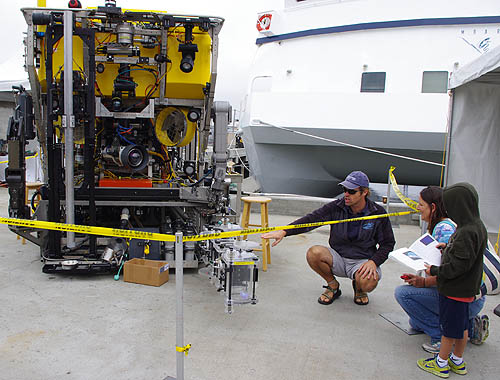 Up close to a remotely operated vehicle