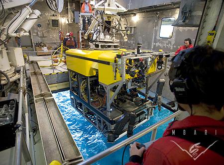 Launching ROV <em>Doc Ricketts</em>