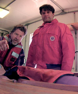 The SCPI camera took this portrait of project manager Chad Kecy (left) and lead scientist Steve Haddock (right) immediately after its first field test in Monterey Bay. Image © 2013 MBARI.
