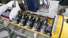 The inside of an upper water-column AUV houses the Gulper water sampling system.