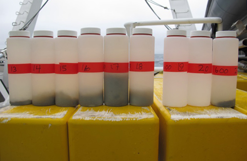 Sediment trap samples, each represents 10 days of collection.