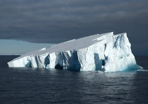 Another side of the iceberg that was chosen for an ROV dive. Photo by Debbie Nail Meyer.