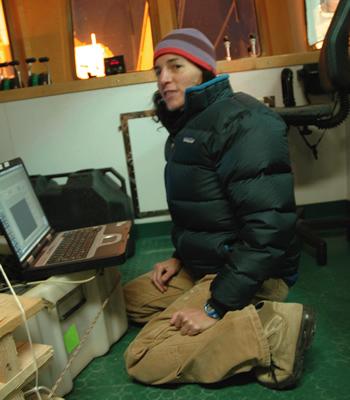 Alana Sherman checks her e-mails. Photo by Stephanie Bush.