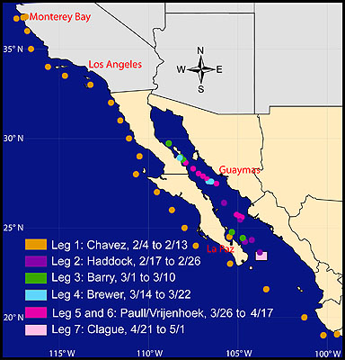 Gulf Of California Map.Mbari Researchers Return To The Gulf Of California Mbari
