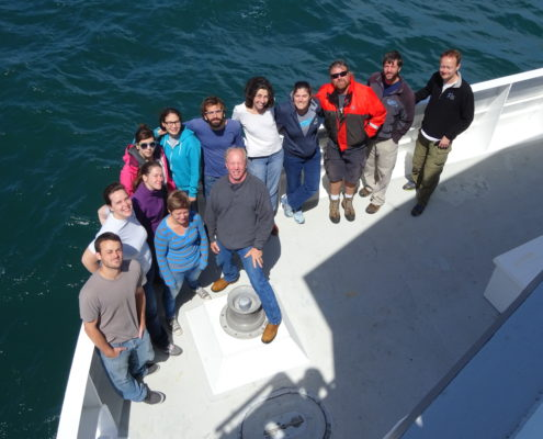 The science party and ROV pilots