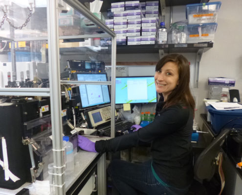 Amy at the Flow Cytometer