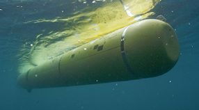 MBARI's mapping AUV underwater, during a cruise off Southern California