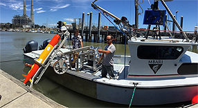 Research vessel Paragon at the dock during MBARI's 2016 Day of Science, Engineering, and Technology
