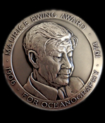 The American Geophysical Union's Maurice Ewing medal. Image courtesy AGU.