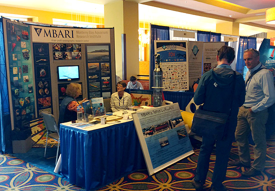 MBARI's booth at the Oceans 2016 conference.