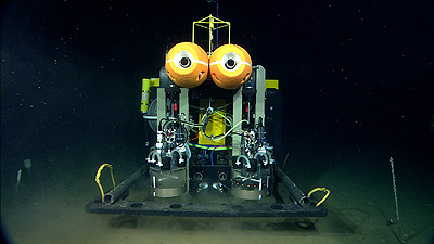 The Benthic Rover on the seafloor off Central California. Image credit: (c) 2007 MBARI