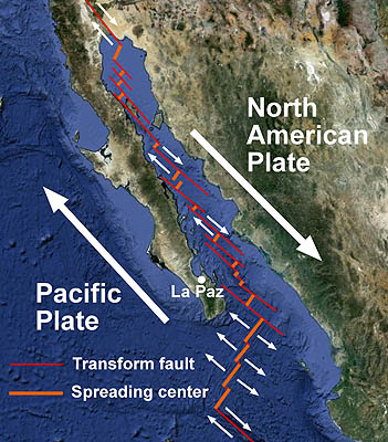 The Geologic Setting Of The Gulf Of California MBARI - Pate boundaries off the coasts us map
