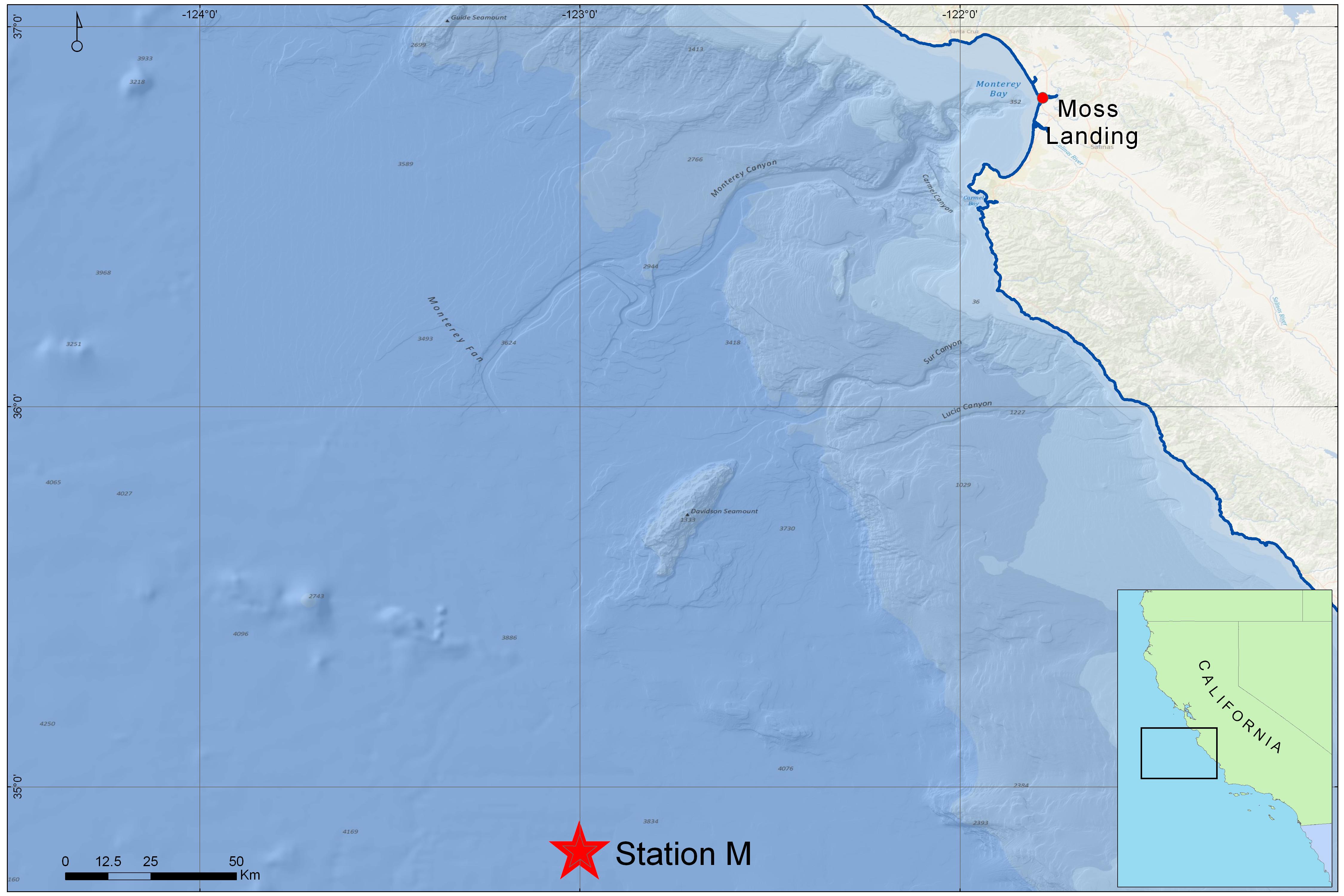 Station M map