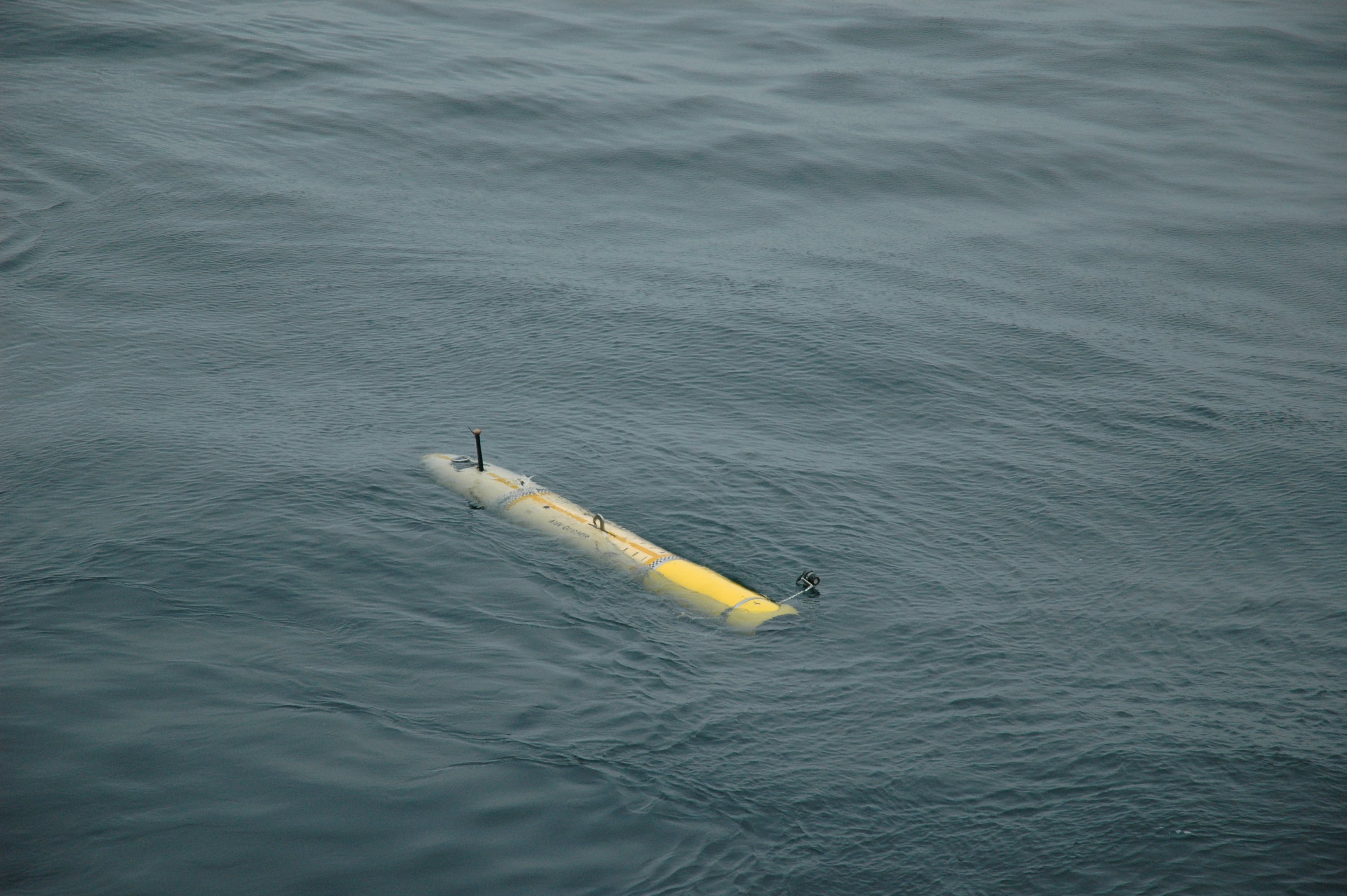 The i2MAP is released and on its own to begin its survey in the ocean.