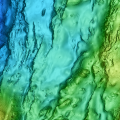 Map of mid-ocean ridge