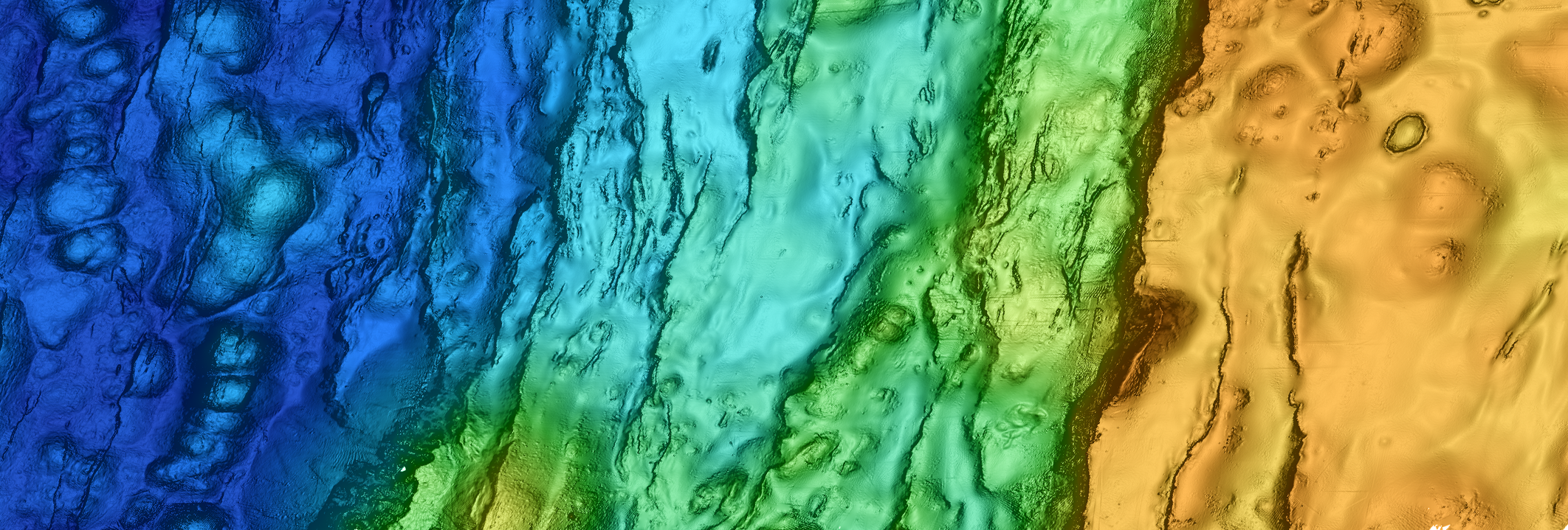Map of mid-ocean ridge